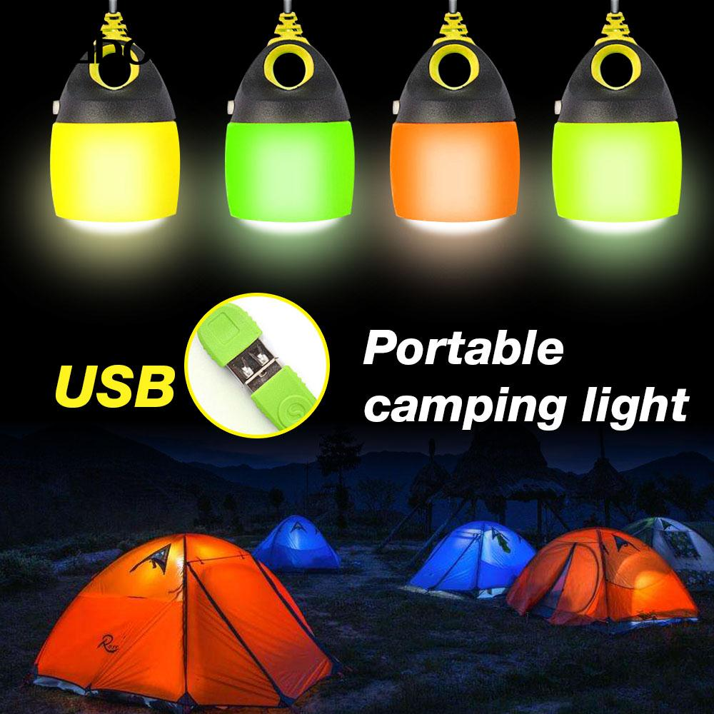 Camping Lamp Portable Lamp Convenient Flashlight 6LED Light Fixture Hiking Fishing Waterproof