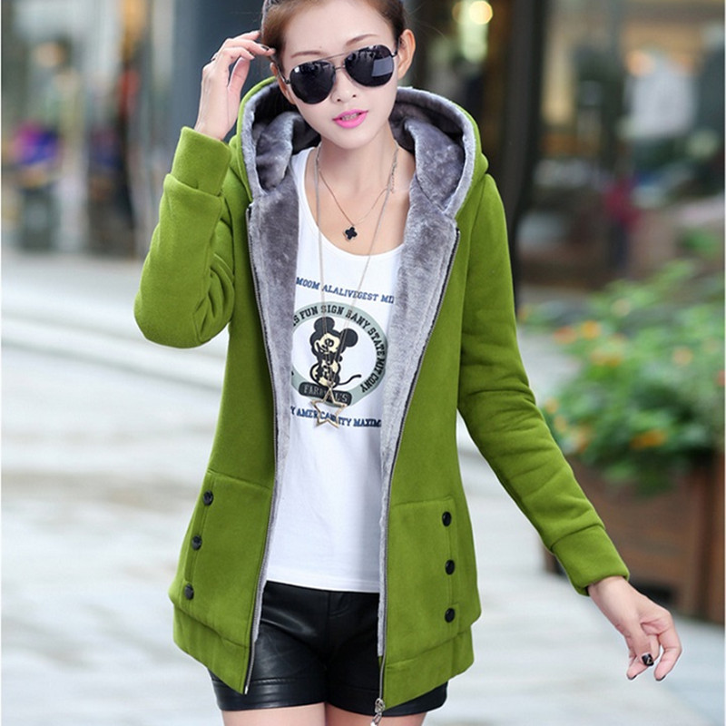2019 Spring Autumn Jackets Women Casual Hoodies Coat Cotton Sportswear Coat Hooded Warm Jackets Plus Size M-3XL