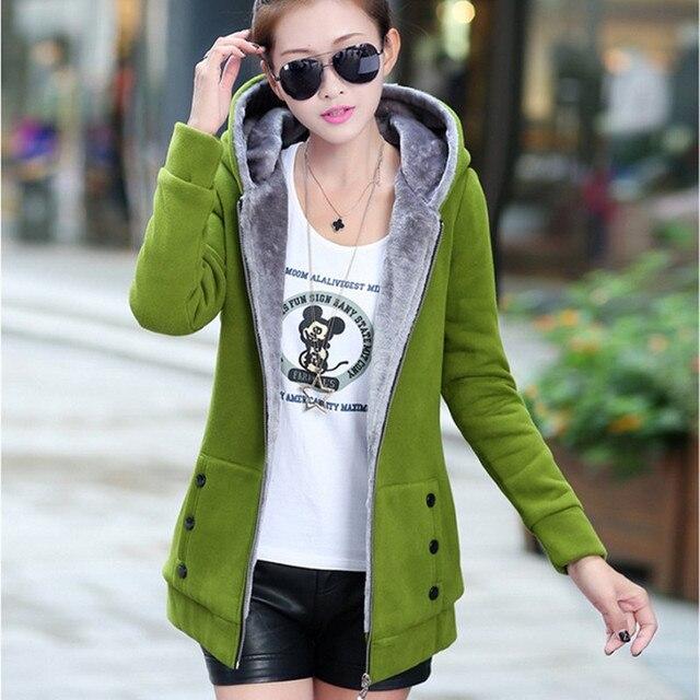 2019 Spring Autumn Jackets Women Casual Hoodies Coat Cotton Sportswear Coat Hooded Warm Jackets Plus Size M-3XL