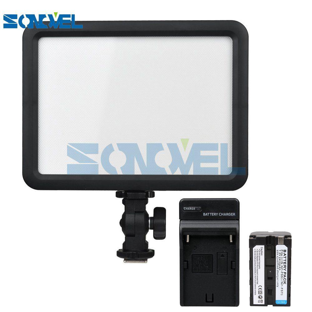 Godox LEDP 120C Lithium battery powered Video Light 120 LED Lights Lamp Photographic Lighting for DSLR