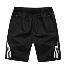 Summer 2019 Casual Beach Shorts Men Exercise Elastic Waist Sim Fit Solid Knee Length Bermudas Masculina Plus Size Plaid Shorts