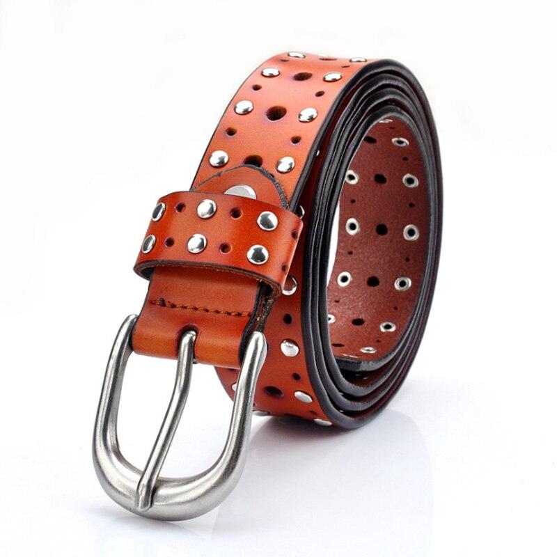 SORBUS DUSK Punk Rock Belts Women 39 s Genuine Leather Brand Straps Female Waistband Pin Buckles Fancy Vintage For Jeans in Women 39 s Belts from Apparel Accessories