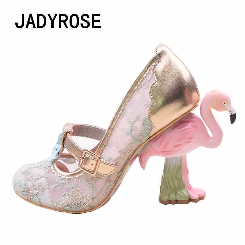 women lace mesh high heels wedding shoes 10cm Flamingo heels shoes woman  gladiator sapato feminino sequin f5fa27f0897b