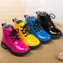 От 1 до 11 лет мальчик девушки сапоги детские ботинки способа теплые детские сапоги резиновые снег кроссовки мартин сапоги черный розовый синий
