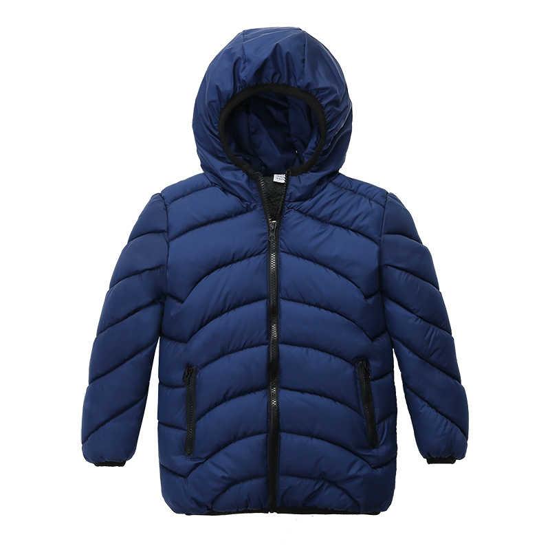 Синие зимние пальто и куртка для мальчиков детские куртки на молнии плотная зимняя куртка для мальчиков зимнее пальто высокого качества для мальчиков детская одежда
