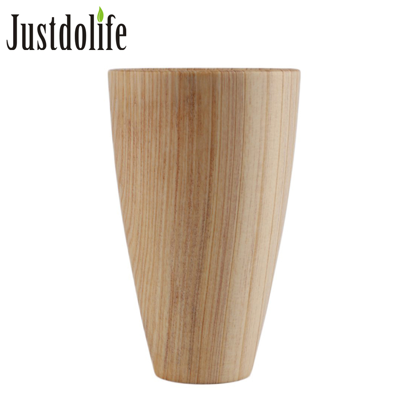 Japanese Style Primitive Wooden Water Cup Handmade Natural -6897