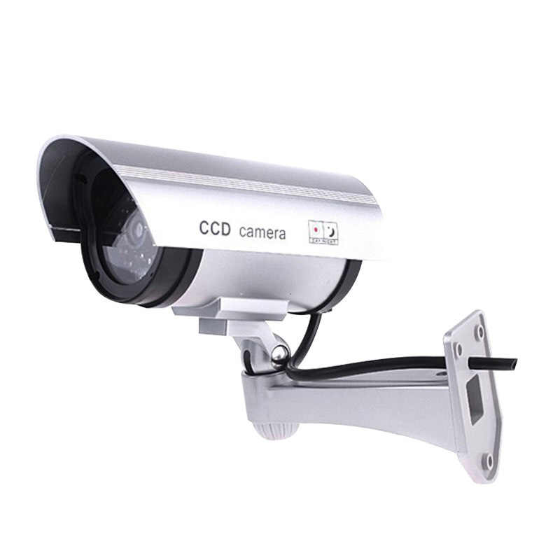 Fake Camera Outdoor Waterproof Dummy CCTV Camera With Flashing Red LED Realistic Look Bullet Indoor Fake Security Camera