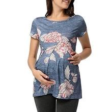 Maternity Clothes Women Pregnant Short Sleeve Ruffles Floral Tops Breastfeeding Maternity Clothes Pregnant Clothes Maternity To