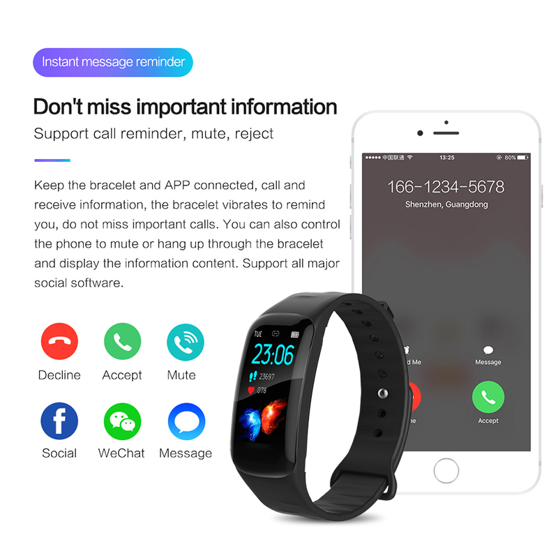 Image 5 - Smart Bracelet LIGE Woman Fitness Bracelet Blood Pressure Heart Rate Monitor Pedometer Smart Watch Men adapt to Android and IOS-in Smart Wristbands from Consumer Electronics