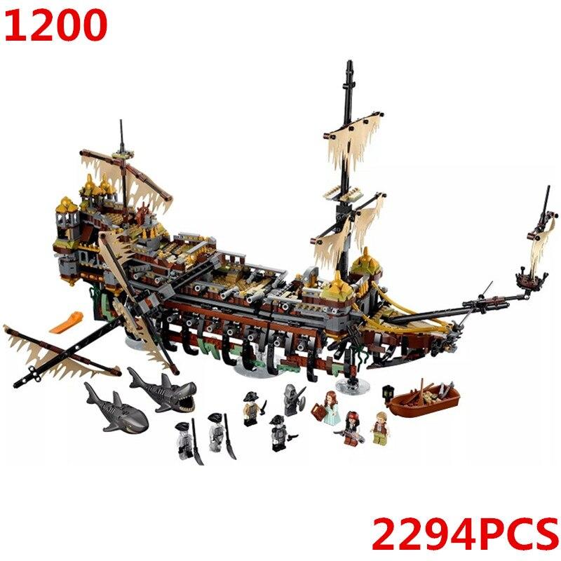 71042 Silent Mary Pirates of the Caribbean Movie Model Building Blocks Bricks Kids DIY Gifts Toys