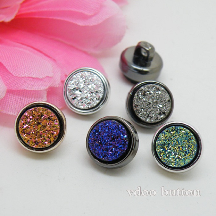 Buttons 10mm shiny artificial mineral for sweater coat shirt jacket handmade Gift Box Scrapbook Craft DIY Sewing accessories ...