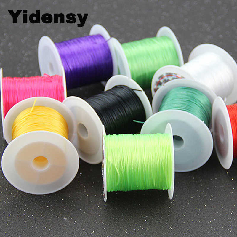 Yidensy 1 Rolls Multi-colors Elastic Stretch Beading Wire Cord String Thread Ropes for DIY Bracelets Jewelry Making Materials