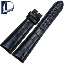 Pesno A Grade Genuine Crocodile Leather Watchband Black 21mm 26mm Watch Strap Suitable for Bvlgari