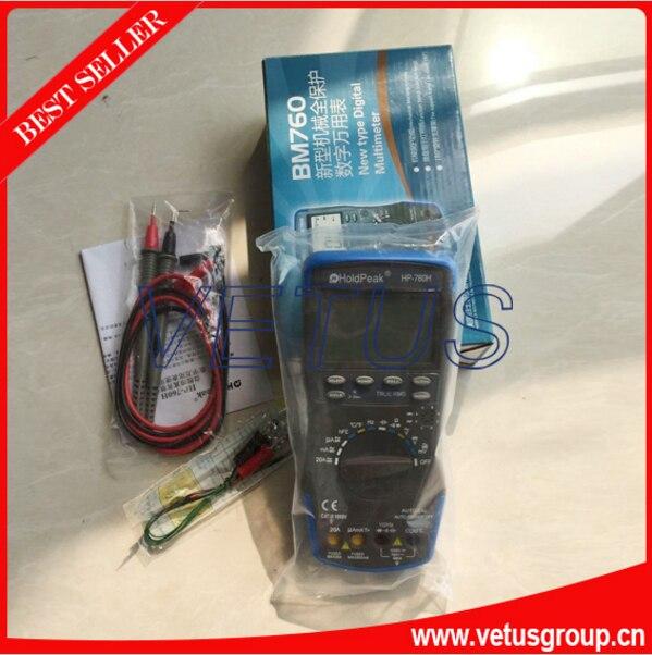 HP-760H Digital avometer with -20~1000C HP-760H HP760H Automatic range DMM digital multimeter my68 handheld auto range digital multimeter dmm w capacitance frequency