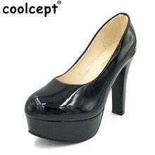 Coolcept mujeres estilete de tacón alto zapatos de señora platform sexy bombas tacones zapatos de tacón alto de la moda de primavera más el tamaño grande 31-47 P16738