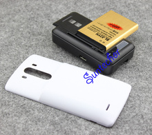 For Lg g3 Battery 6800mAh + Back Power Case Cover +USB Wall Charger For LG G3 Optimus D855 VS985 D830 D850 D851 F400 BL-53YH original high capacity bl 53yh battery white charger for lg optimus g3 d830 d850 d851 d855 ls990 vs985 f400 lg g3