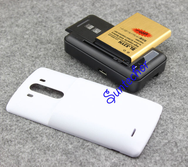 G3 Battery BL-53YH 6800mAh + Back Power Case Cover +USB Wall Charger For LG G3 Optimus D855 VS985 D830 D850 D851 F400
