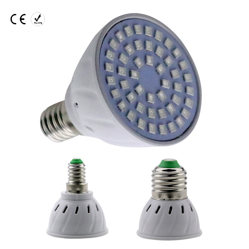 GU10 Full Spectrum Indoor Plants Lamp For Flower Hydroponic System Tent MR16 SMD2835 E14 48 60 80leds E27 led Grow Lights B22