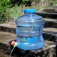 11.3L Large Capacity Round PC Storage Bucket With Faucet Portable Outdoor Drinking Bucket Water Container Water Tank Bucket