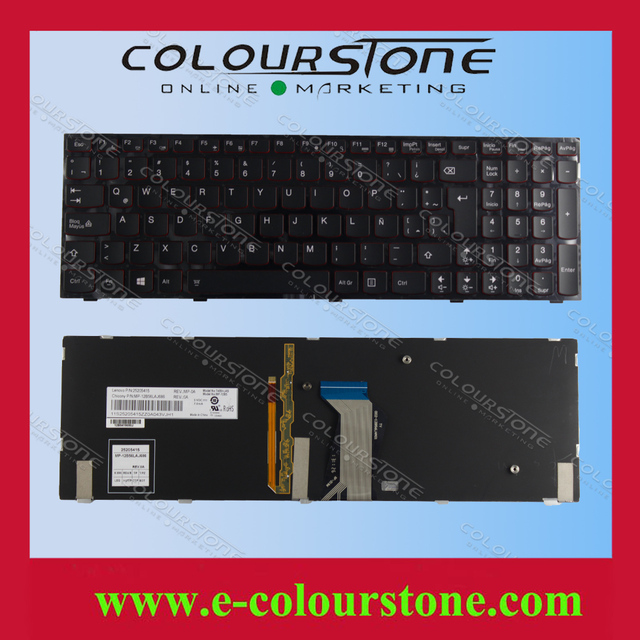 Первоначально Новая Для Lenovo Y500 Y500N Y500NT Y500N-МФИ Y590 серии LA Латинской teclado клавиатуры ноутбука с подсветкой MP-12B56LAJ686 25205415