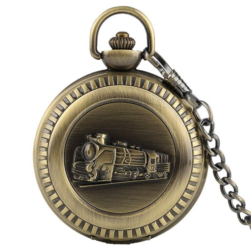 Reloj de bolsillo de cuarzo de Bronce Antiguo, locomotora, motor de vapor, diseño de tren, colgante Steampunk para hombre, reloj de coche, regalo para mujer-in Relojes de bolsillo y colgantes from Relojes de pulsera on Aliexpress.com | Alibaba Group