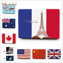 63e58f75d 3in1 National Flag USA/UK/CA/FR/AU Shell Case For Macbook · 24 Colors  Available
