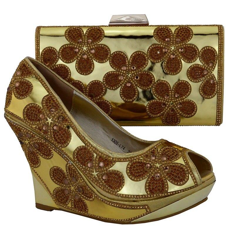 Strass Royal Sac Chaussures Correspondant Italie Bleu Femmes En Décoré Et Avec Bleu Dernières vert Mis Ensemble rose or qf7Fw