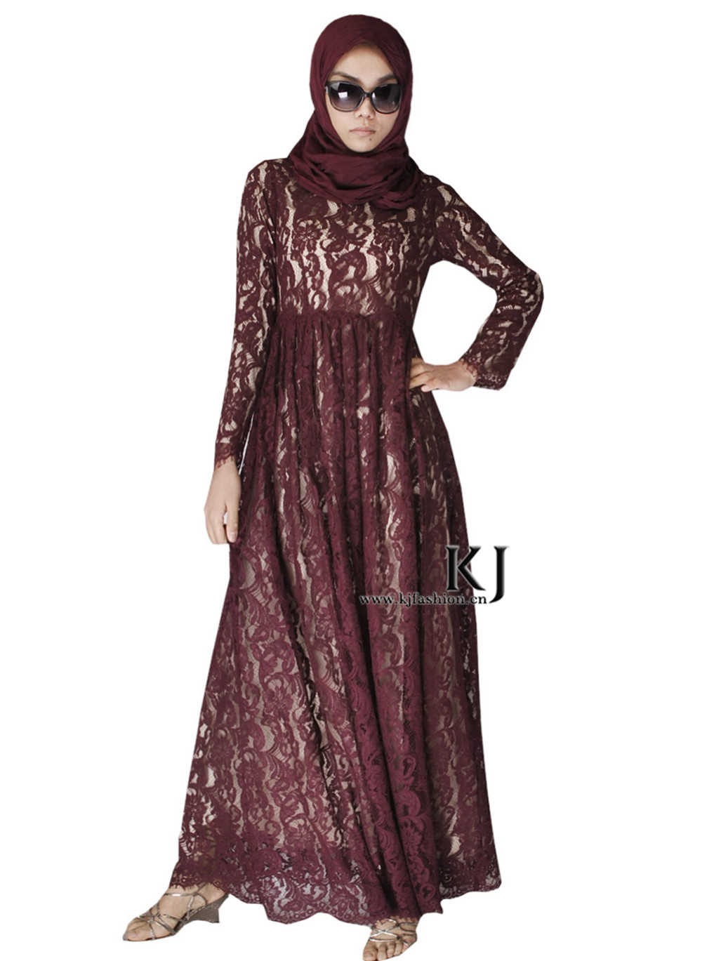 Robe Musulmane Real And Abayas Sale Adult Cotton Fashion Lace font b Islamic b font Clothing