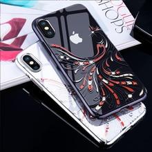 Haute qualité brillant strass cristaux étui pour iPhone X Original Kingxbar étui de téléphone pour iPhone X luxe diamant couverture arrière