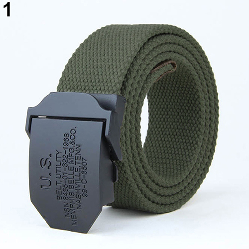 Men Fashion Useful Practical outdoor Military tactical   belt   Canvas Buckle Waist   Belt   Waistband high quality dropshipping