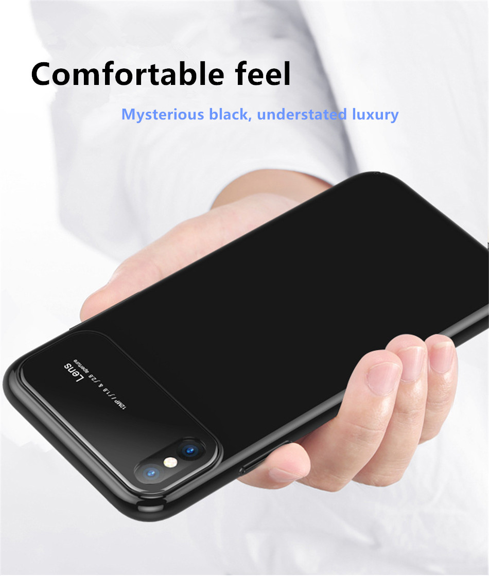 Luxury Case For iphone X 7 8 Plus 10 Tempered Glass Hard PC Hybrid Armor Cases For iphonex 10 Anti Knock Protective Phone Cover (5)