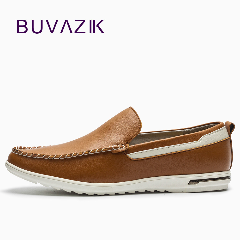 BUVAZIK New fashion 2018 soft genuine leather loafers men's comfortable casual shoes slip-on driving shoes men flats farvarwo genuine leather alligator crocodile shoes luxury men brand new fashion driving shoes men s casual flats slip on loafers
