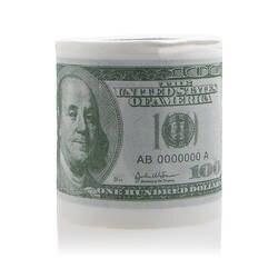 1 шт. забавные сто доллар Bill Туалетная рулонная бумага деньги ролл $100 роман подарок