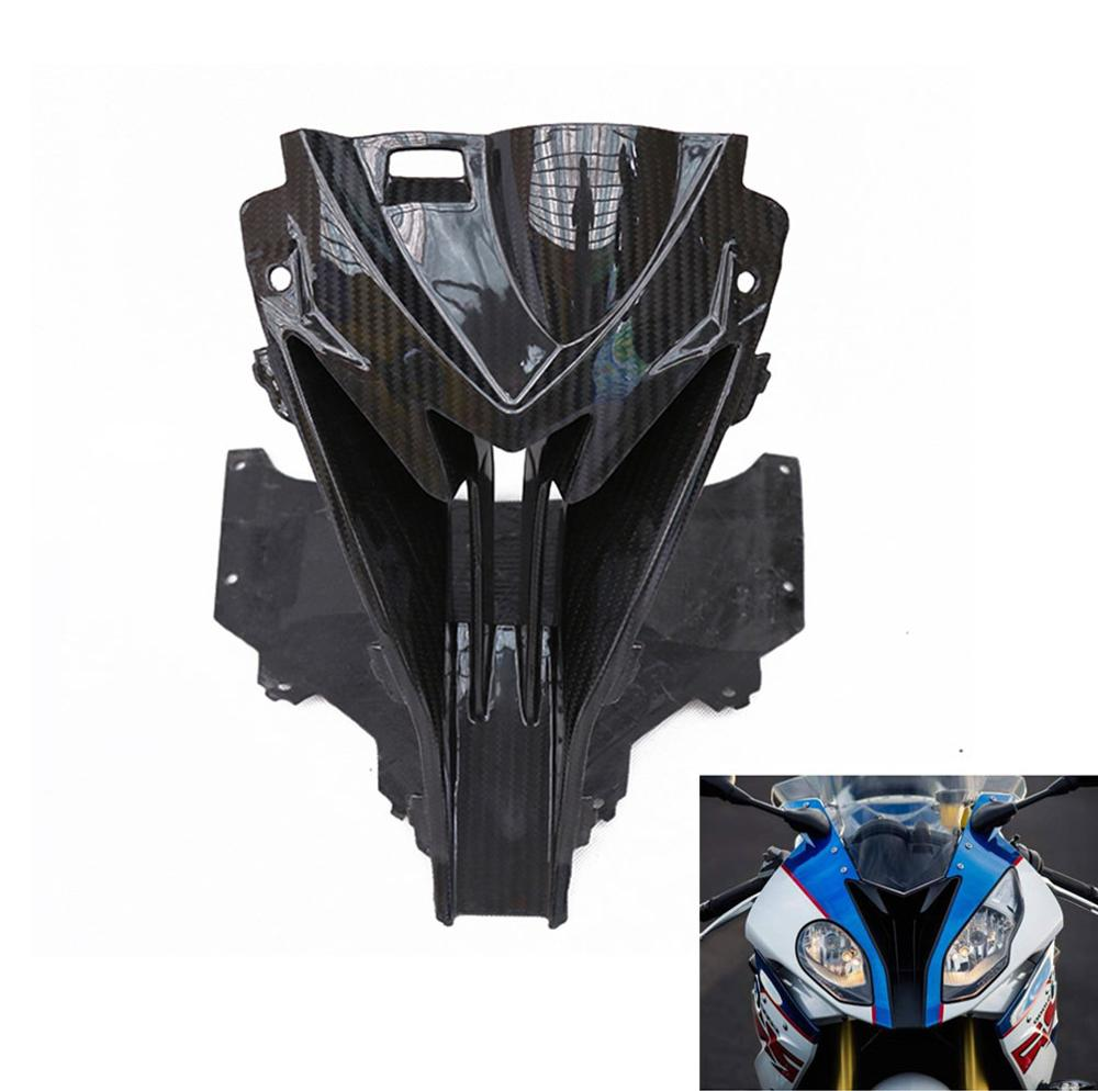 For bmw s1000rr 2015 2016 2017 2018 Motorcycle Front Head Nose Cowl Air Intake Carbon Fiber Fairing Shell Protective Cover image