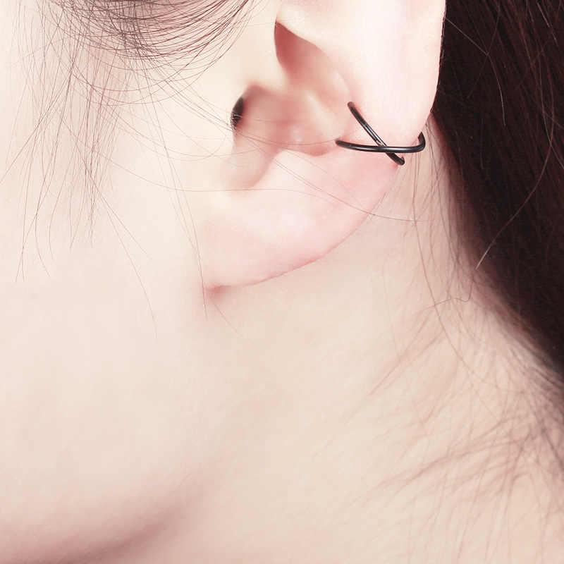Retro punk estilo u-em forma de orelha brincos de osso invisível sem perfurado bobina dupla orelha clipe sem orelha buraco brinco transporte da gota