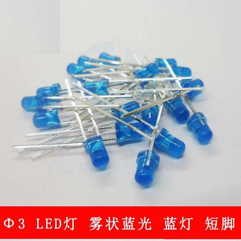 Light-emitting Diode Short Legs Factories And Mines blue Smart 1000pcs/lot 3mm Led Light Mist Of Blue Hair Blue Highlighted Blue