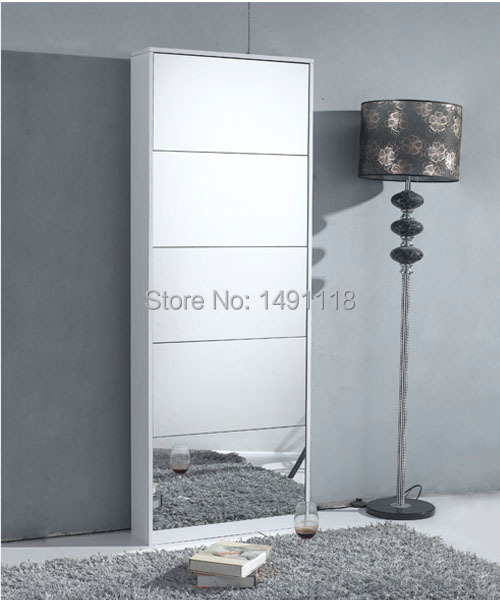 Living Room Furniture Shoe Cabinet Shoe Rack Decorative Mirror Home  Furniture Cheap Shoe Rack Glass Mirror