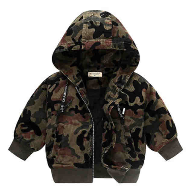 Baby Girls Boys Jacket  2018 Fashion Spring Autumn Camouflage Coats 12M Children's Army Windbreaker 4Y Kids Hoodied Outerwear