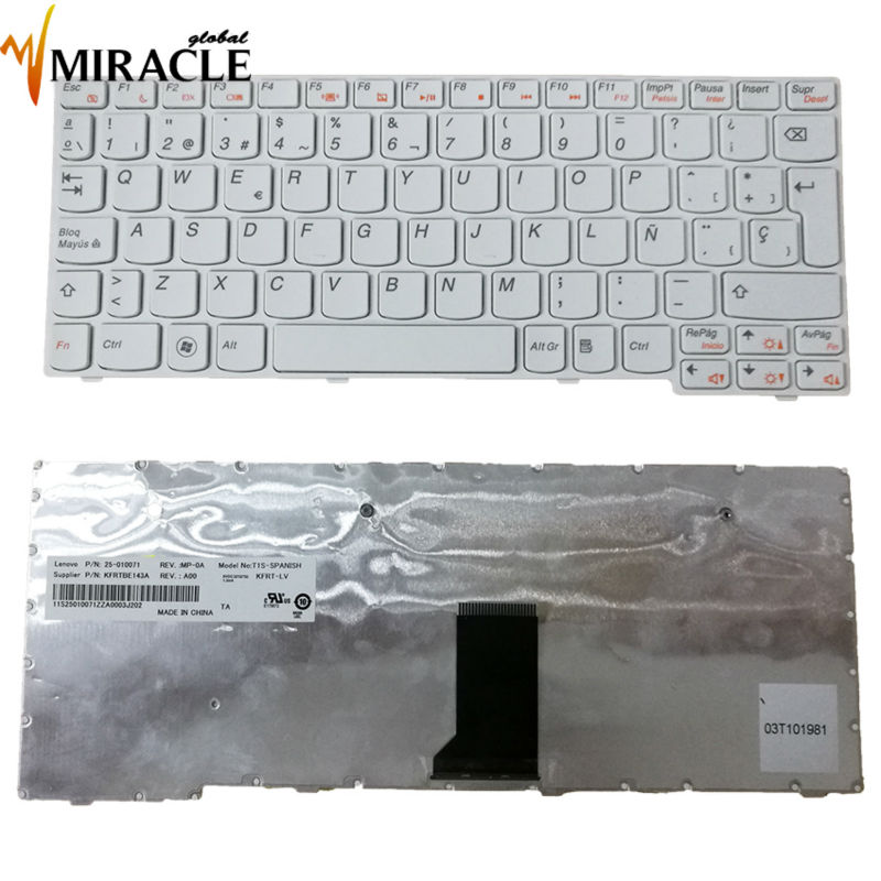 Repair You Life NEW Spain SP keyboard for LENOVO IdeaPad S10-3S S10-3 S100 <font><b>U160</b></font> U165 M13 E10-30 White laptop keyboard image