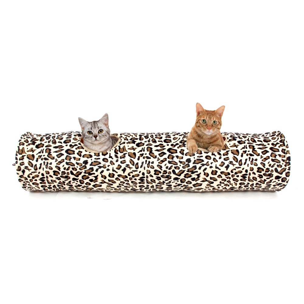 Aliexpress.com : Buy New Pet Tunnel Bulk Cat Toys Cat Tunnel Leopard Print  Crinkly Cat Fun 2 Holes Long Tunnel Kitten Toys Rabbit Play Tunnel From  Reliable ...