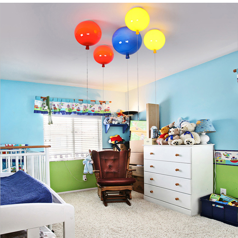 Romantic Colorful Balloon Ceiling Lights Baby Childrens Room Cozy Lamp Lustre Luminarias Minimalist Plafonnier Moderne Lamparas De Techo Ceiling Lights & Fans Ceiling Lights