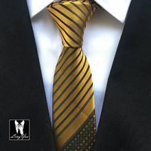 2014 stylish color tie unique Skinny groom wedding gravata golden stripes checks dots corbata Woven handmade