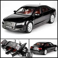 1/18 Audi A8L W12 2015 Diecast Metal Model Car Toy Kyosho Hobby Collection Black For Baby Gift