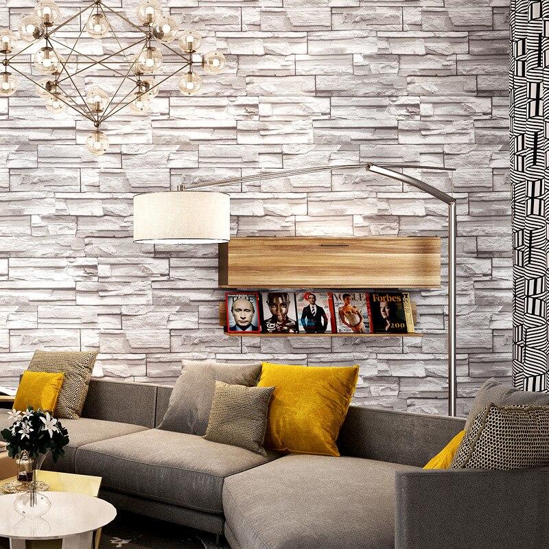 3D Simulation brique papier peint hôtel Restaurant vêtements salon de coiffure étanche PVC papier peint personnalité maison mur décor