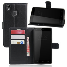 CASEISHERE Luxury Leather Flip Case for Doogee X5 Max / X5 Max Pro Smartphone Wallet Stand Cover With Card Holder