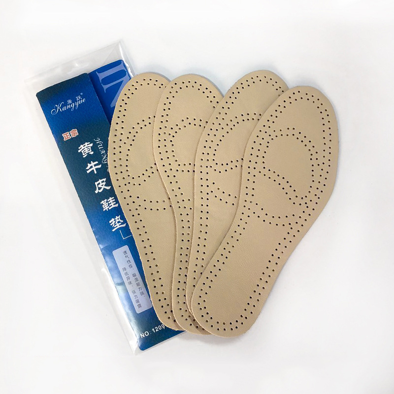 купить 1 Pair Massage Insoles Unisex Leather Latex Insole Arch Support Breathable Shoes Cushion WML99 по цене 104.04 рублей