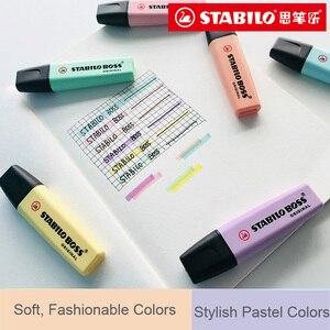 Image 4 - Stabilo BOSS оригинальный хайлайтер, маркер, 6 модных пастельных цветов, 2 + 5 мм, флуоресцентный прозрачный хайлайтер
