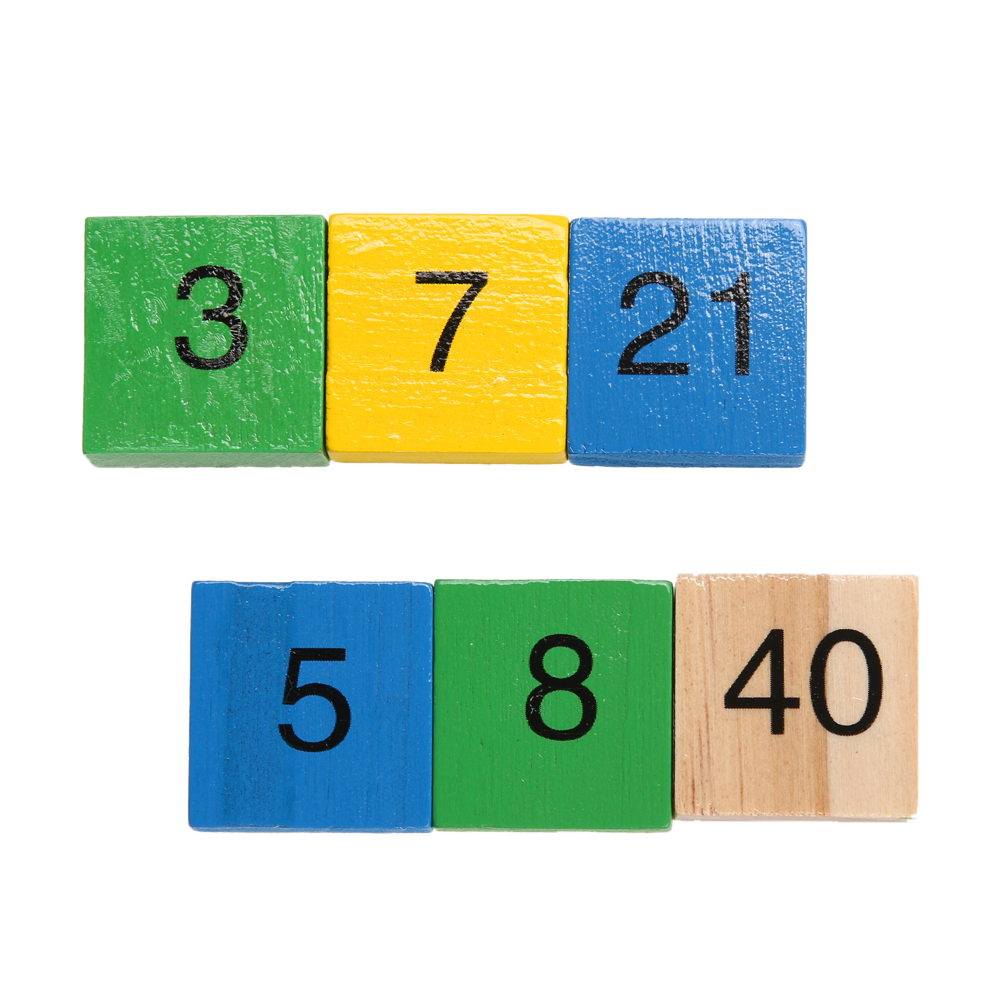 Math Dominoes Toy Double Side Multiplication Table Pattern Printed Board Children Educational Kids Wooden Math Toys
