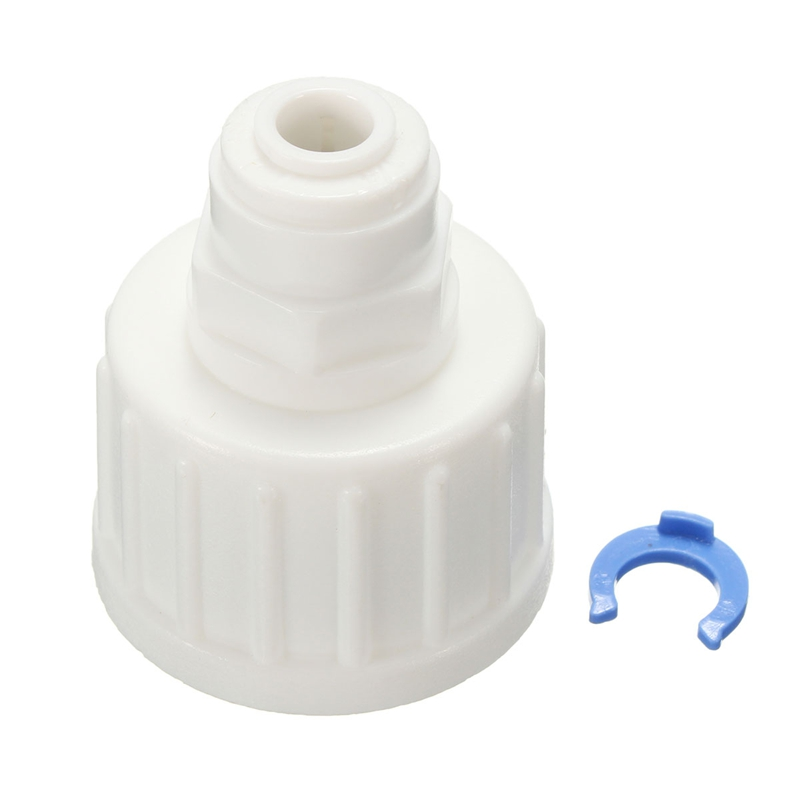 Kitchen Water Filter Tap Connector Adaptor  Push Fit 3/4 Inch BSP To 1/4 Inch Reverse Osmosis RO White Watering Fitting Pipe