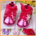 Hot Selling Baby Girl Leisure Shoes With Rose Flower Riband Lace-Up 0-15 Months